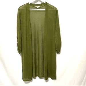Cato green light weight cardigan rouged sleeve